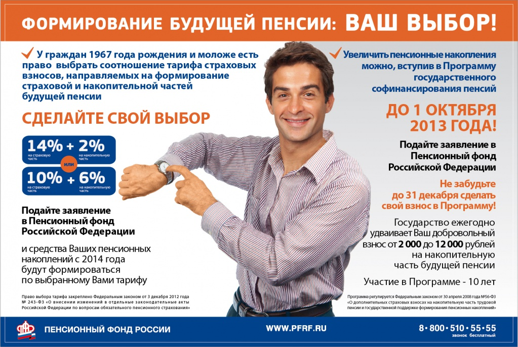 Государственная программа софинансирования пенсии 2016