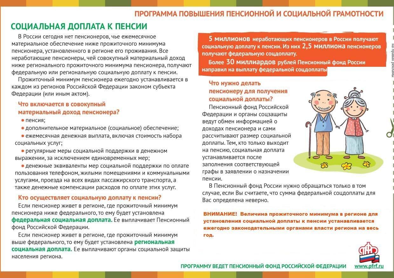 Социальная доплата к пенсии в России