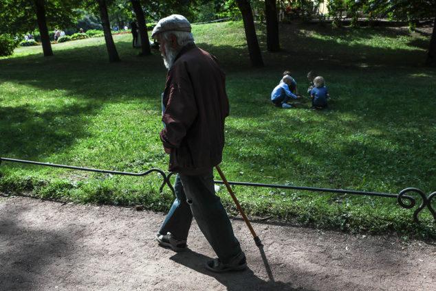 Senior citizens in Russia
